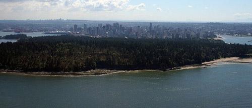 Stanley Park, con la ciudad al fondo (foto: innerORANGE)